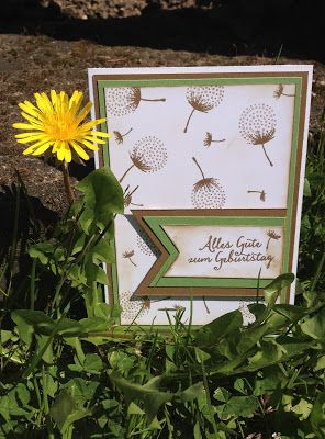 Stempellicht: Pusteblumenkarte mit Stampin Up Set Partyballons