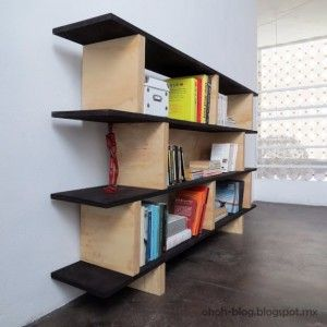 DIY Renters Decor Ideas - DIY Bookcase - Cool DIY Projects for Those Renting Aparments, Condos or Dorm Rooms - Easy Temporary Wall Art, Contact Paper, Washi Tape and Shelves to Make at Home http://diyjoy.com/diy-decor-ideas-for-renters