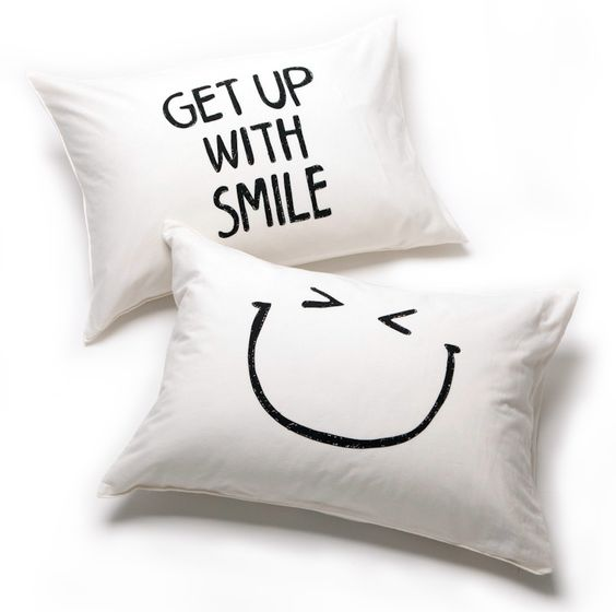 GET UP & SMILE pillow cases | CANDI
