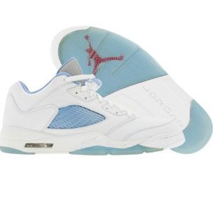 toiles de van gogh - Nike Womens Air Jordan 5 V Retro Low (white / university blue ...