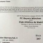 #Ticket  2 Tickets FC Bayern vs. Atlético Madrid CL Halbfinale Rückspiel #deutschland