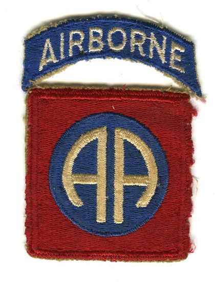 82nd Airborne Division Patch. Gift of Randy Michael, The National World War II Museum Inc.
