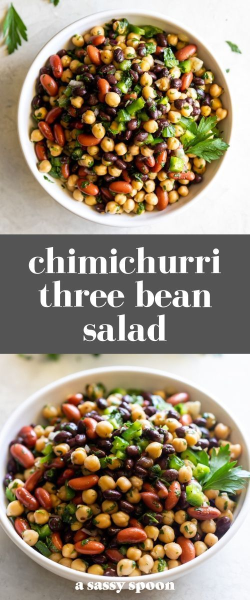 An Easy To Make Three Bean Salad Made With Black Beans Chickpeas And Kidney Beans Tossed In A D Bean Salad Recipes Three Bean Salad Recipes With Kidney Beans