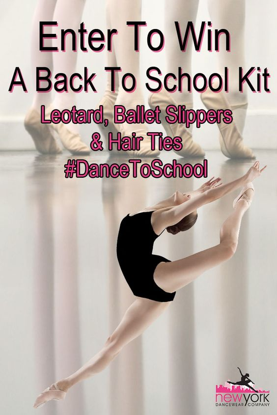 Follow these steps to ENTER: 1. Like this post 2. Follow @nydancewear on Pinterest 3. Pin this post to one of your Pinterest boards 4. For an extra entry, you can upload your back to school shopping/prep photos to Pinterest and tag @nydancewear 5. You can enter as many times as you like across Facebook and Instagram 6. Winner will be selected at random...keep entering before it's over!