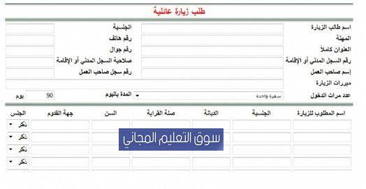 الاستعلام عن طلب زيارة عائلية الشروط والرسوم من وزارة الخارجية السعودية Family Visit Visa سنقدم لكم في سوق التعليم المجاني شروط طلب زيارة عائلية Bullet Journal