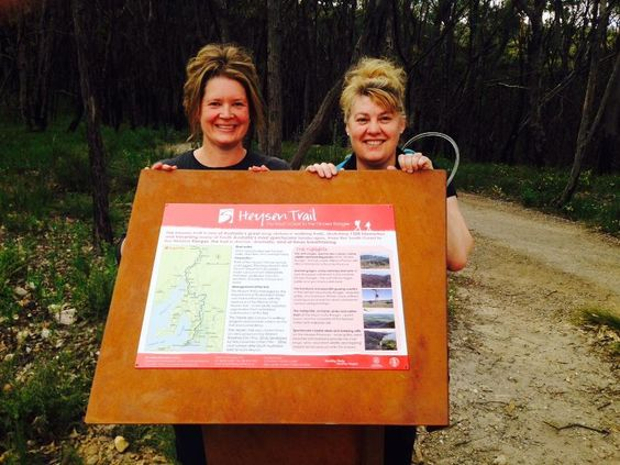 New Heysen Trail sign at the junction between the Heysen Trail and the Watergully to Mt Lofty Summit trail. Thanks Stephanie and Kerry from End-to-End 9 group.  https://www.facebook.com/photo.php?fbid=10203988587928458