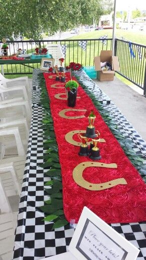 Horse race table runner-awesome!