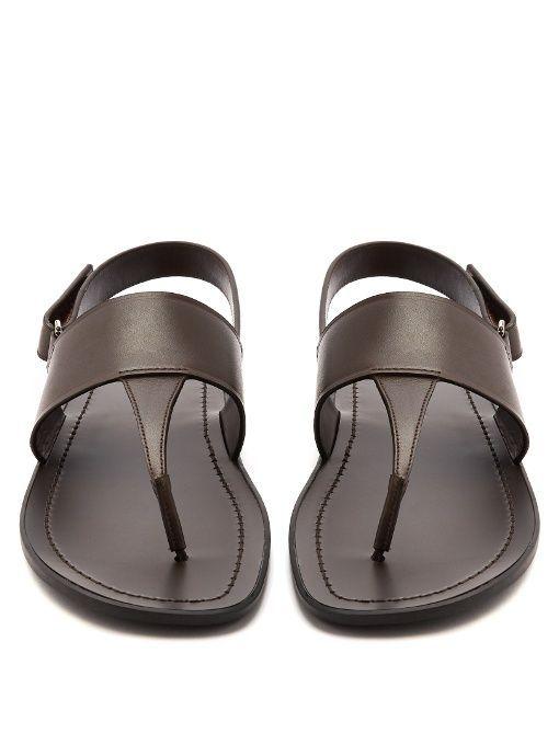 Prada Back-strap leather sandals