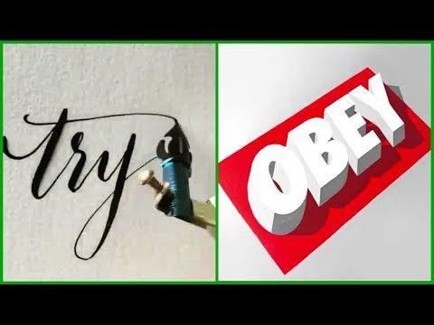 Painting Hacks 5 Minute Crafts 3d Word Art Painting Word Art