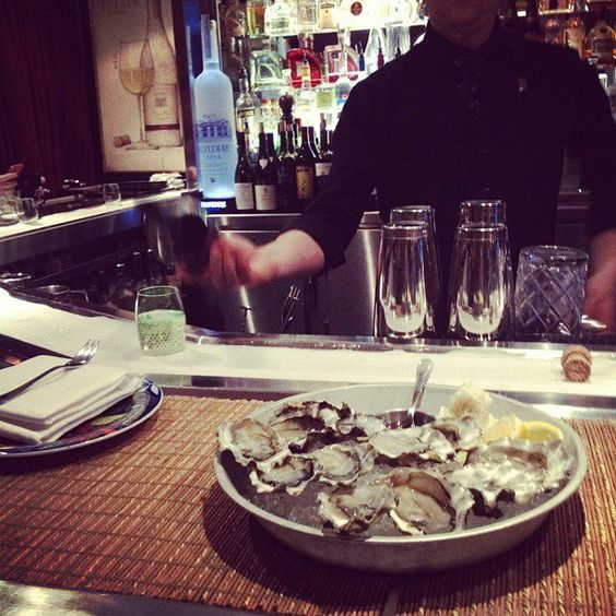 Bearfoot Bistro apres...a dozen oysters for $10 between 3-6pm. Just add champagne.