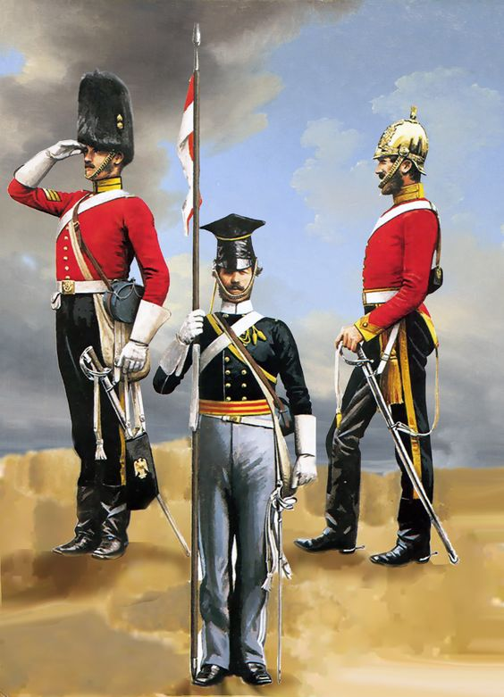 British Inniskilling Dragoons, Royal Scots Grays and Light Lancers at the Battle of Balaclava, Crimean War