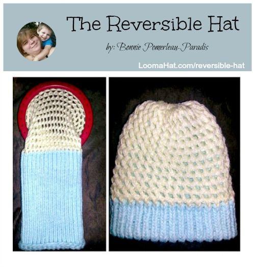 Knitting Pattern Reversible Hat : Loom Knit Reversible Hat FREE Pattern Loom Knit Hat Patterns Pinterest ...