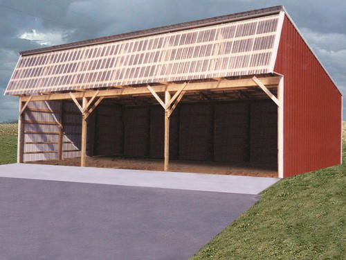 Garden Sheds Menards 10'w x 18'l x 7'h open sided shed at menards | barn plans