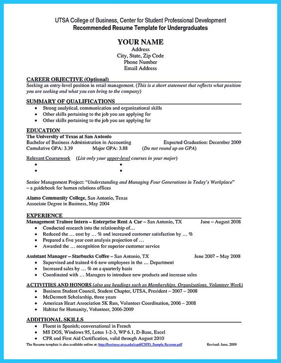 Cool Special Guides For Those Really Desire Best Business School   Business  School Resume Template  Business School Resume Template