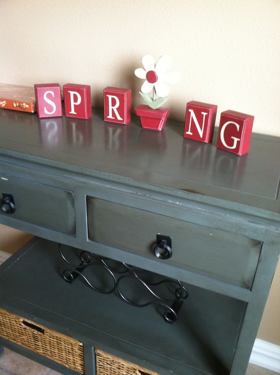 A good spring sign! Minus the red!
