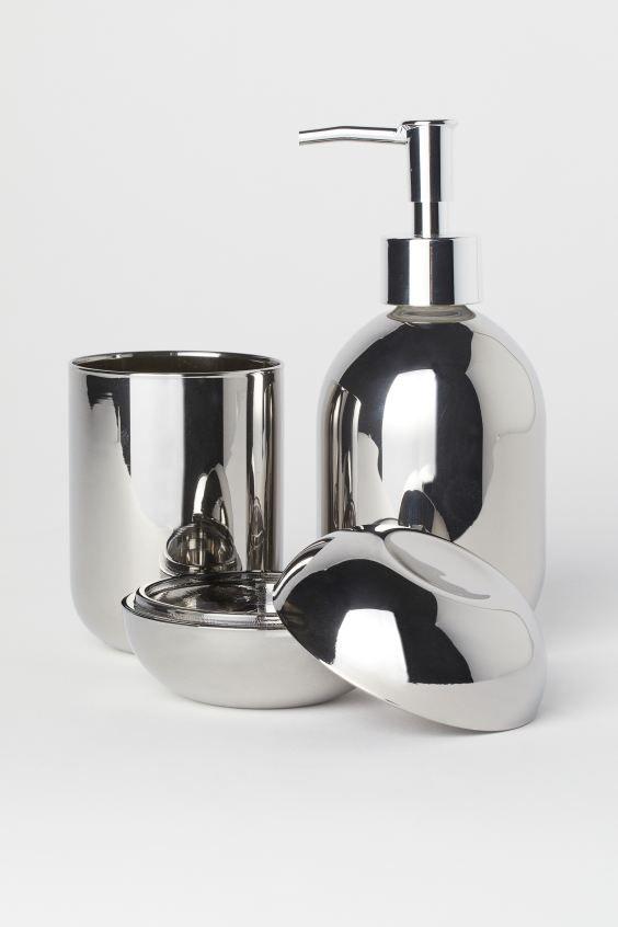 H M Home Glas Box Silver In 2020 Glas Badezimmer Einkaufen H M