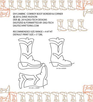 Cowboy Boots Border & Corner by Dave Hudson DH1248BNCPR
