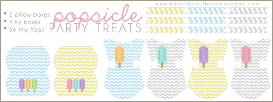Popsicle Party Printables: Treat Boxes