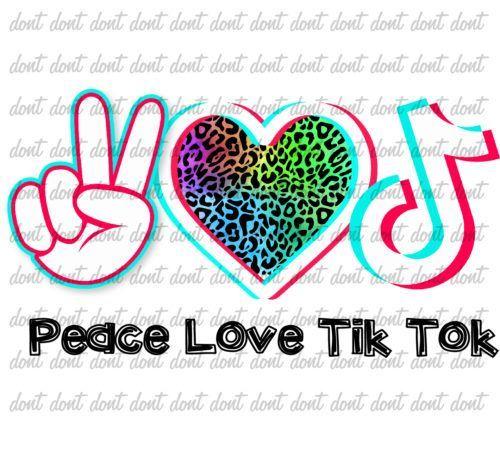 Peace Love Music Png Peace Love Tiktok Png Peace Love Design Png Tik Tok Design Png Music Lovers Dance Logo Peace And Love Cute School Bags
