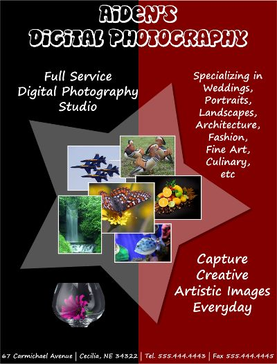 Free Digital Photography Flyer Template to download | FlyerTutor ...