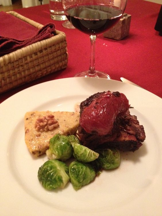 Red Wine and Dijon Braised Short Ribs with Rosemary Walnut Polenta ...