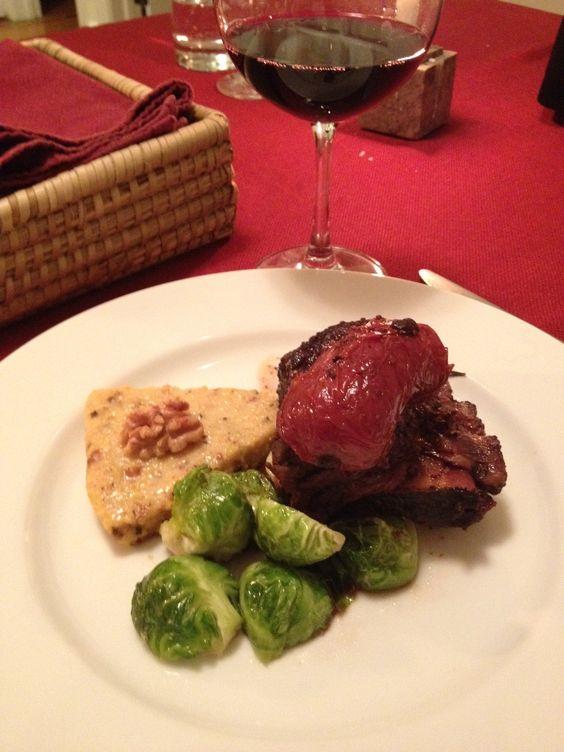 Red Wine and Dijon Braised Short Ribs with Rosemary Walnut Polenta ...