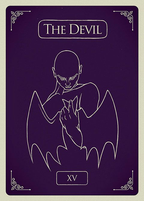 Cryptozoic Penny Dreadful Promo Card NSU Non Sport Update The Devil XV Tarot