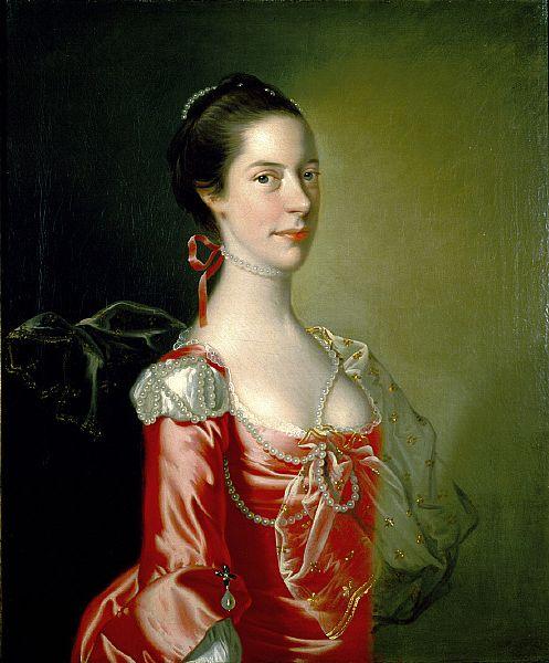 Portrait of a Lady, by Joseph Wright, c 1760, St. Louis Art Museum: