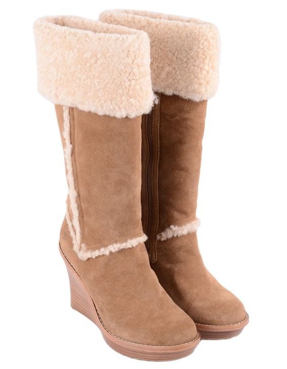 Ugg Australia - Aubie Tall Suede Boots - Chestnut   Accent Clothing