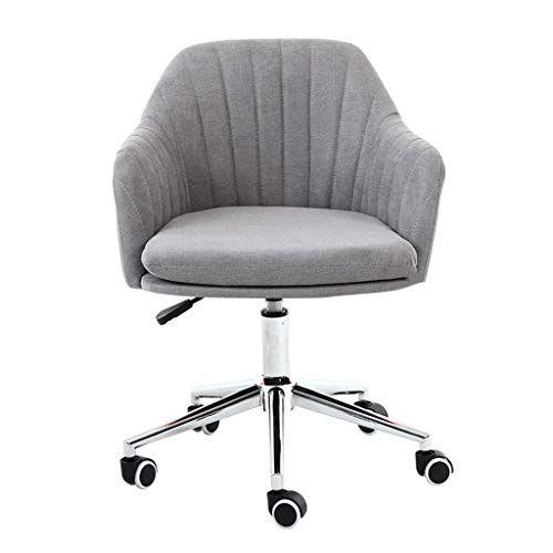 Jolly Modern Desk Comfort White Swivel Fabric Home Office Task