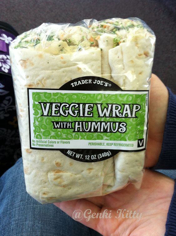 Trader Joes Veggie Wrap with Hummus Review