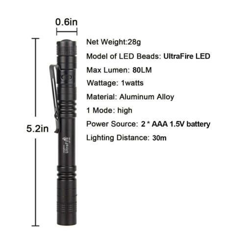 Cree Xpe R3 Led Flashlight Mini Penlight In 2020 Led Flashlight Flashlight Cree