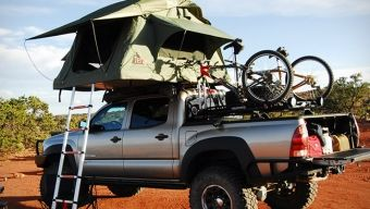 Tent for your truck.  Called Tepui Roof Top Tents.