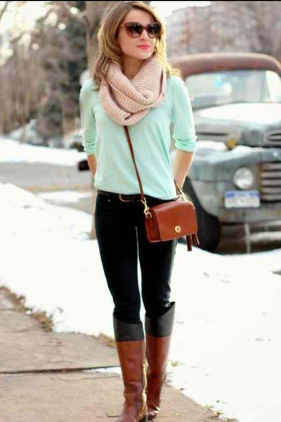 Como combinar botas color cafu00e9 - 101trendy | ROPA BONITA! | Pinterest | Bu00fasqueda y Colores