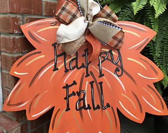 Wood Leaf Door Hanger