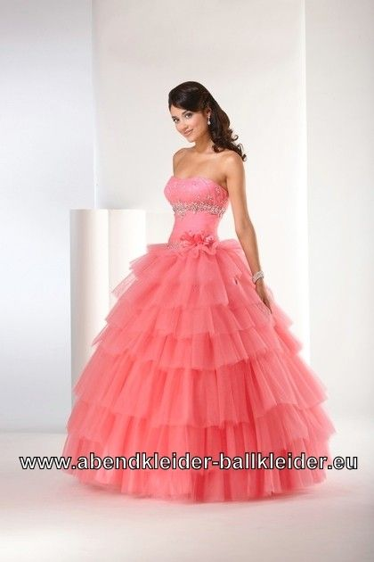 Ballkleid Bella in Lachs