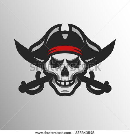 Pirates Logo Skull Badge logo, Pirate sku...