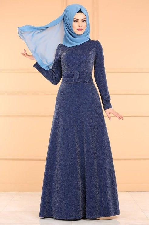 Modaselvim Elbise Kemer Detay Simli Elbise 0531al357 Laci Moda Stilleri Elbise Giyim
