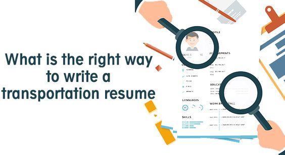 What Is The Right Way To Write A Transportation Resume Resume - transportation resume