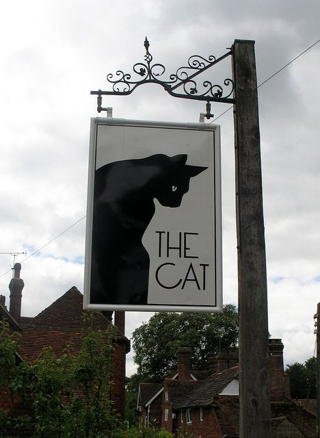 The Cat Inn - Pub sign in West Hoathly, Sussex, England