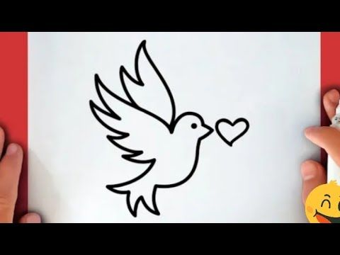 Pencil Drawing How To Draw A Bird Step By Step Easy Cool Drawings Cool Easy Doodle Youtube In 2021 Simple Doodles Cute Easy Doodles Cool Drawings