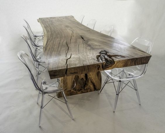 Tropical and tables on pinterest for Chaise dsw transparente