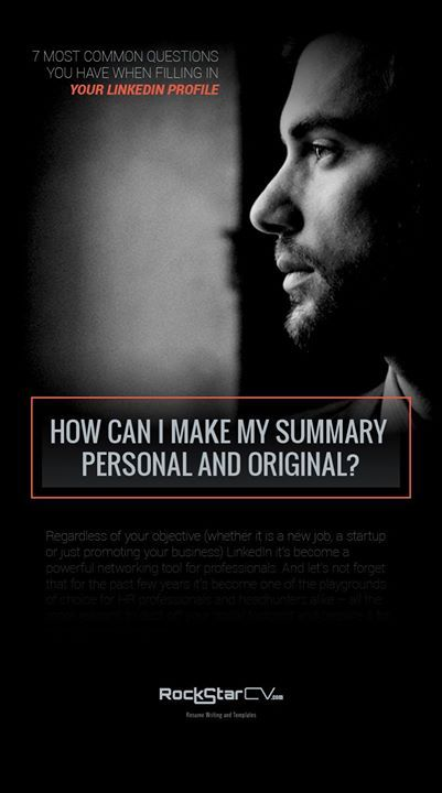 How can I make my summary personal and original? #LinkedIn #Resume ...