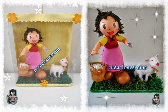 fofucha Heidi ,cajita muñequita Heidi ovejita de fofucha Heidi ,#fofuchas #fofuchos