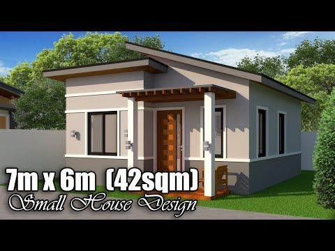 7m X 6m 42 Sqm Small House Design With 2 Bedrooms Youtube Small House Design Small House Design Plans Small House Interior Design