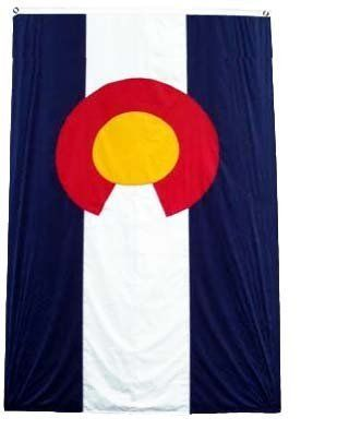 """Large New 2x3 Colorado State Flag US USA American Flags by NationalCountryFlags. $7.99. Lightweight and great for hanging inside and out doors. Double sewn edges for durability. Includes 2 Brass grommets for hanging!. Brand new 2' x 3' (24"""" x 36"""") Super-Polyester Colorado State flag. The flag of Colorado was designed by Andrew Carlisle Johnson in 1911 and adopted by the state's General Assembly on June 5 of the same year, and consists of three horizontal stripe..."""