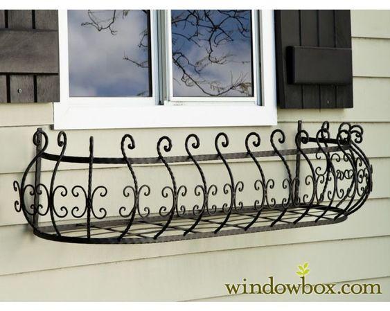 jardinera de hierro para ventana - Buscar con Google
