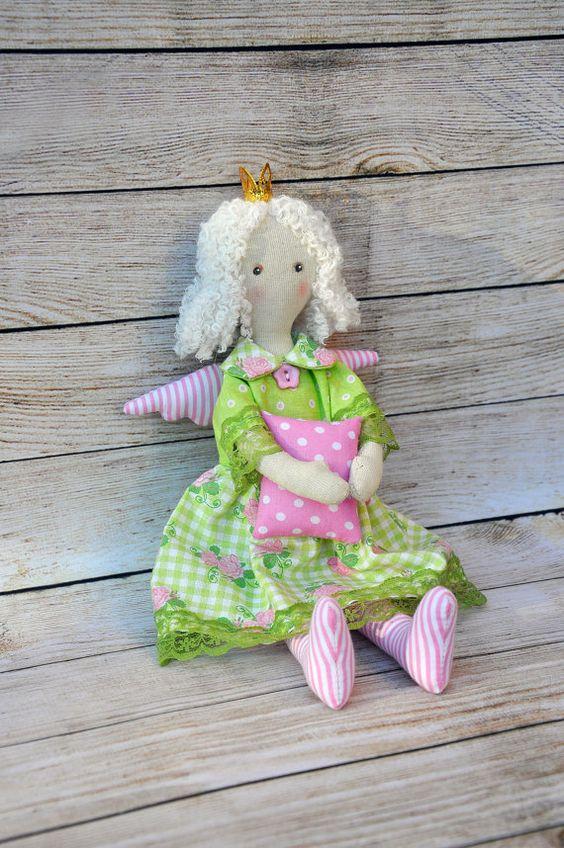 SALE!! Princess angel, Textile doll, Tilda doll ,Princess Tilda angel,:
