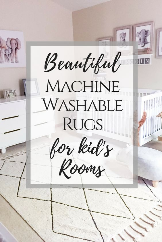 Stylish, machine washable, kid friendly rugs. Pin now, shop later
