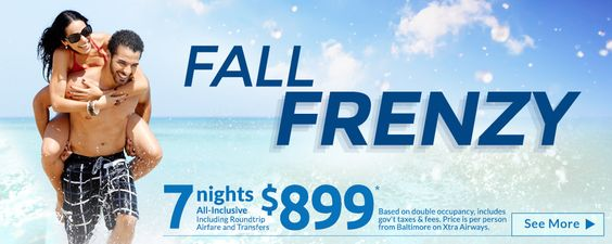 Fall Frenzy #travel specials